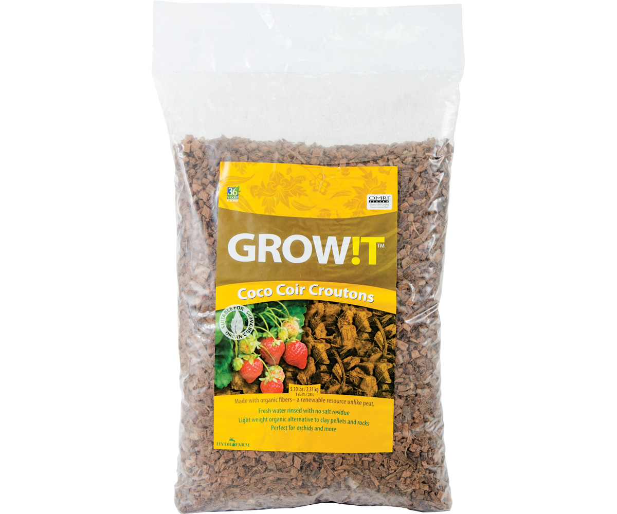 GROW!T Coco Croutons, 28 Liter bag