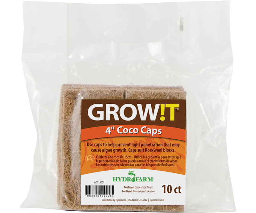 GROW!T Coco Caps 4 Inch - 10 PACK