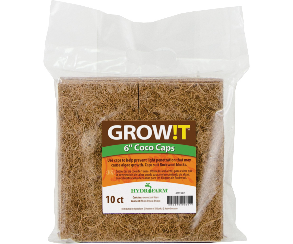 GROW!T Coco Caps 6 Inch - 10 PACK
