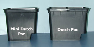 Grodan Dutch Pot W/ 2 eLBows - Black - 9 H x 12 L x 10 W