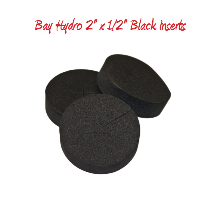 Bay Hydro 2 x 1/2 Neoprene Inserts 100pc Black