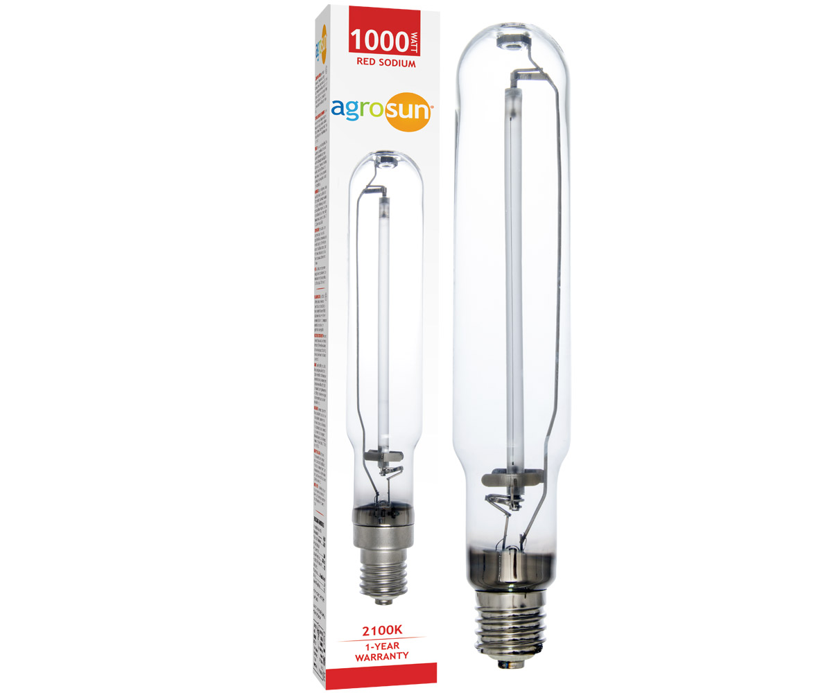 Agrosun Red Sodium High Pressure Sodium (HPS) Lamp 1000W