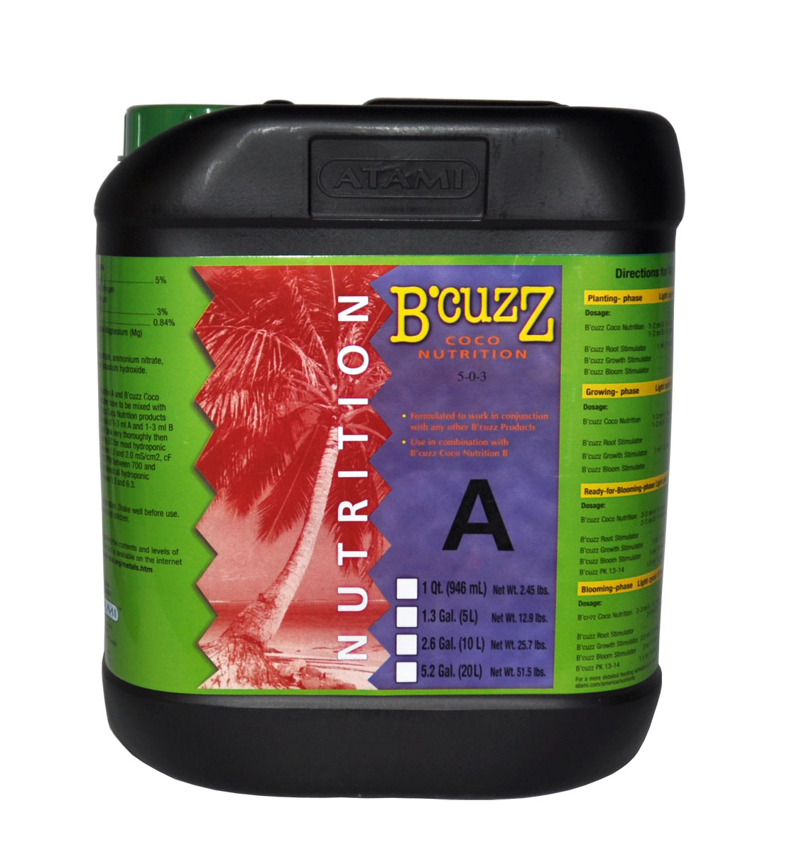 B'Cuzz Coco Nutrition Component A 20 L