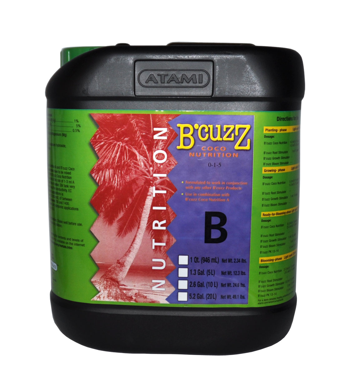 B'Cuzz Coco Nutrition Component B 20 L