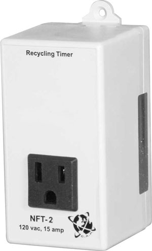 C.A.P. NFT-2 Non-Adjustable Timer, Factory Settings, 3 Min On/5 Min Off, 15A @ 120V