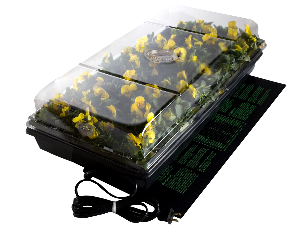 Jump Start Germination Station W/ Heat Mat Tray 72-Cell Pack 2 Inch Dome