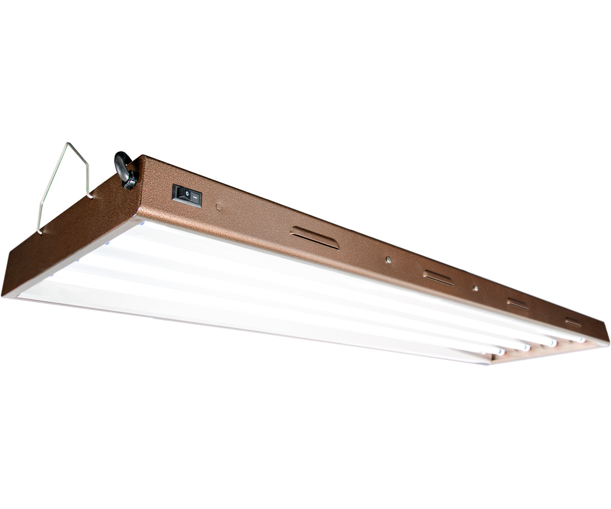 Agrobrite Designer T5 216W 4 Foot 4 - Tube Fixture W/ Lamps
