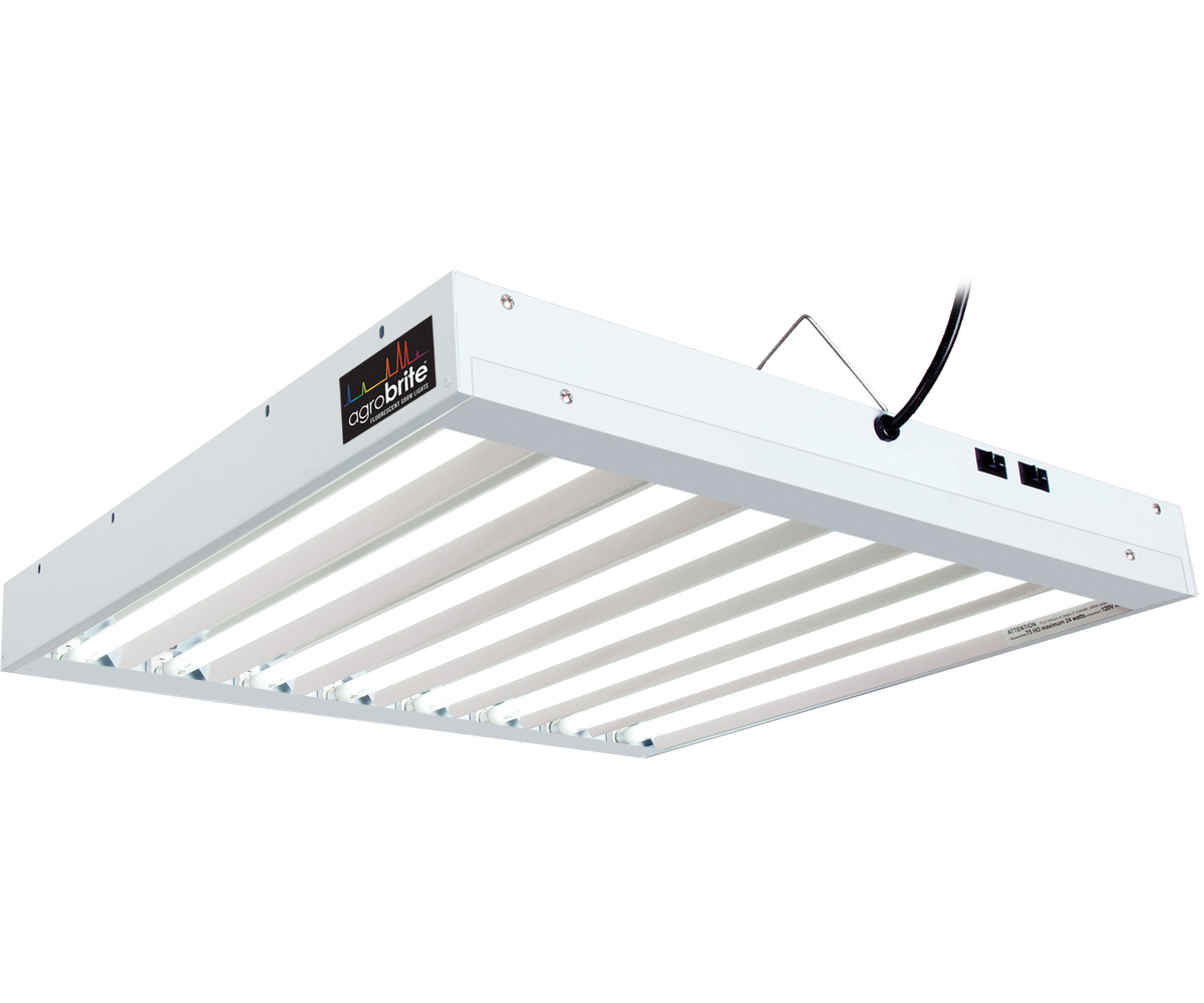 Agrobrite T5 192W 2 Foot 8 - Tube Fixture W/ Lamps