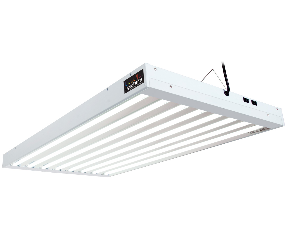 AgroBrite T5 432W 4 Foot 8 - Tube Fixture W/ Lamps