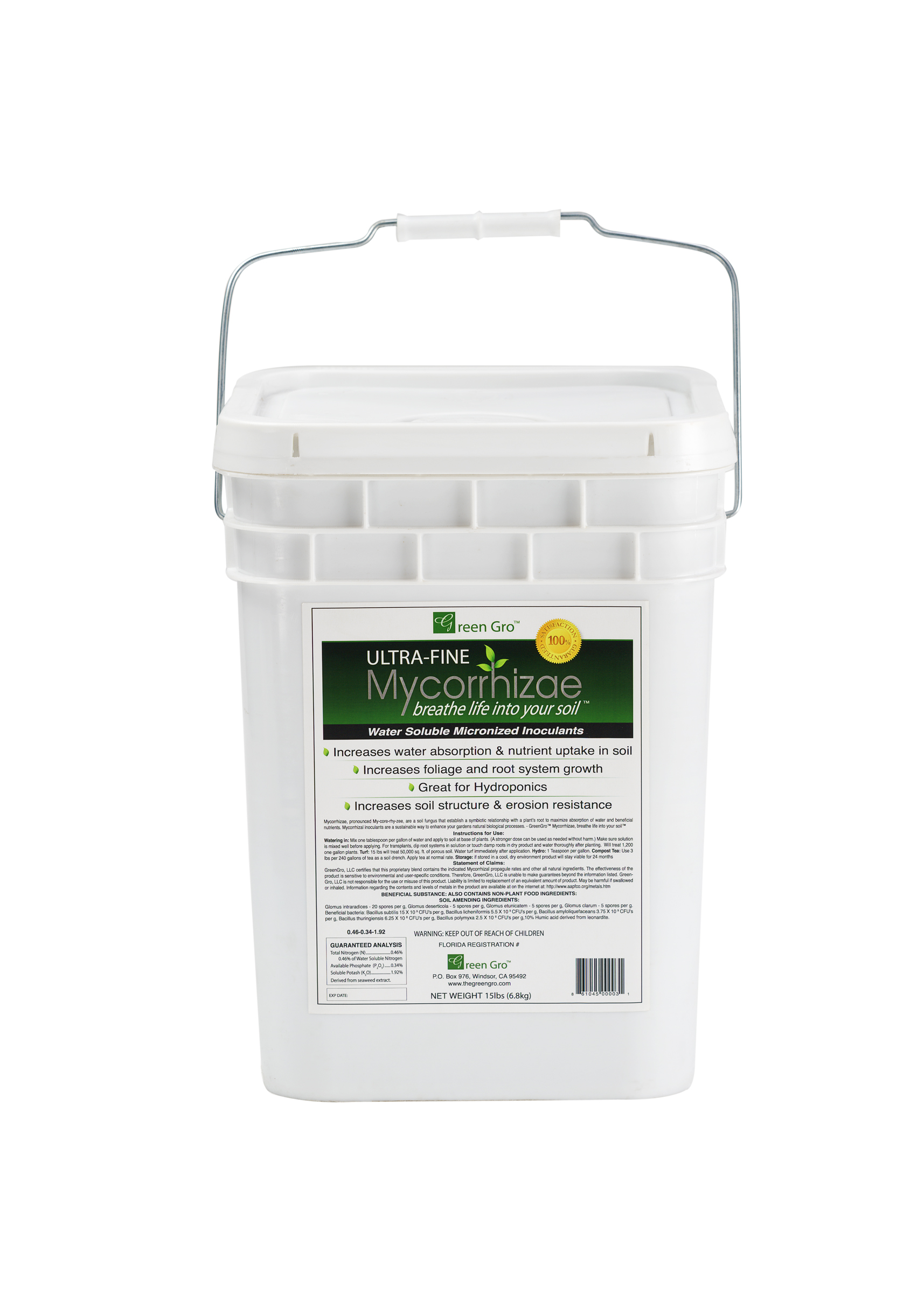 Green Gro Ultrafine Mycorrhizae All-in-One 15 LBS