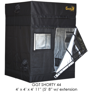 Gorilla SHORTY Grow Tent - 4 X 4 Foot - W/ 9 Extension Kit