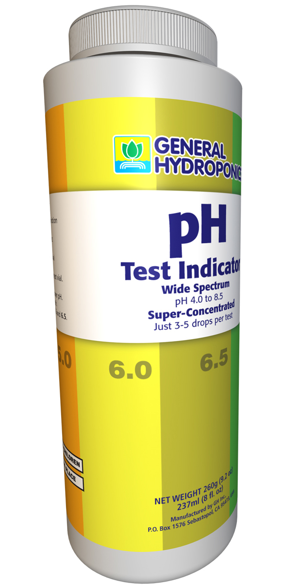 General Hydroponics pH Test Indicator Solution 8oz