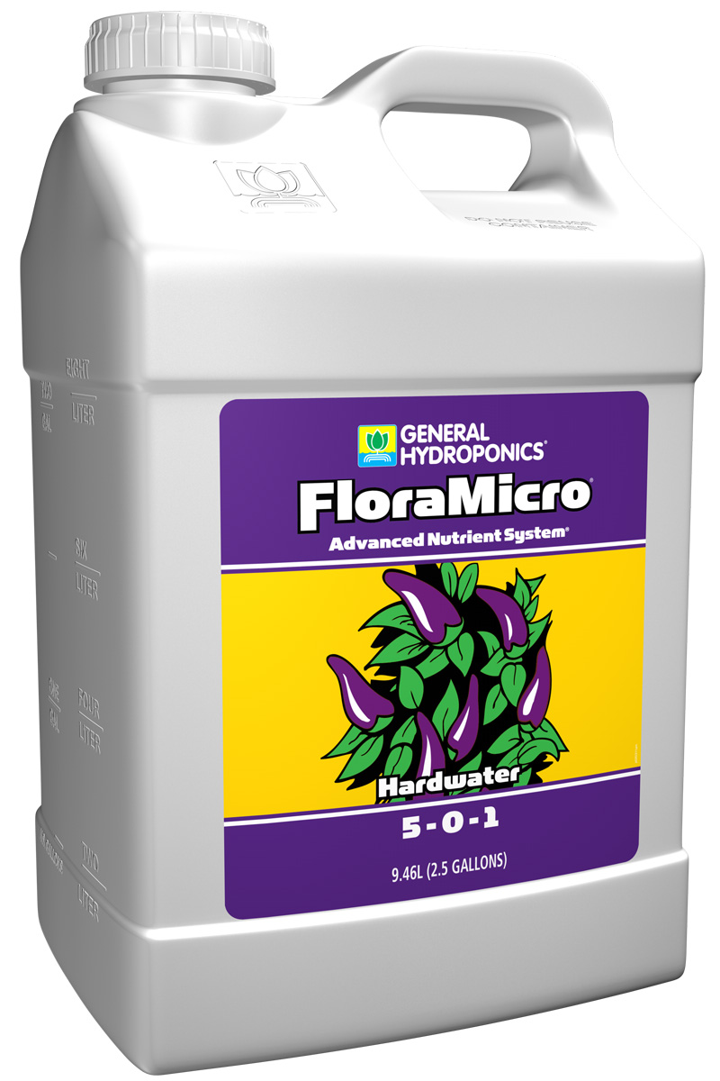 General Hydroponics FloraMicro Hardwater  2.5 Gallon