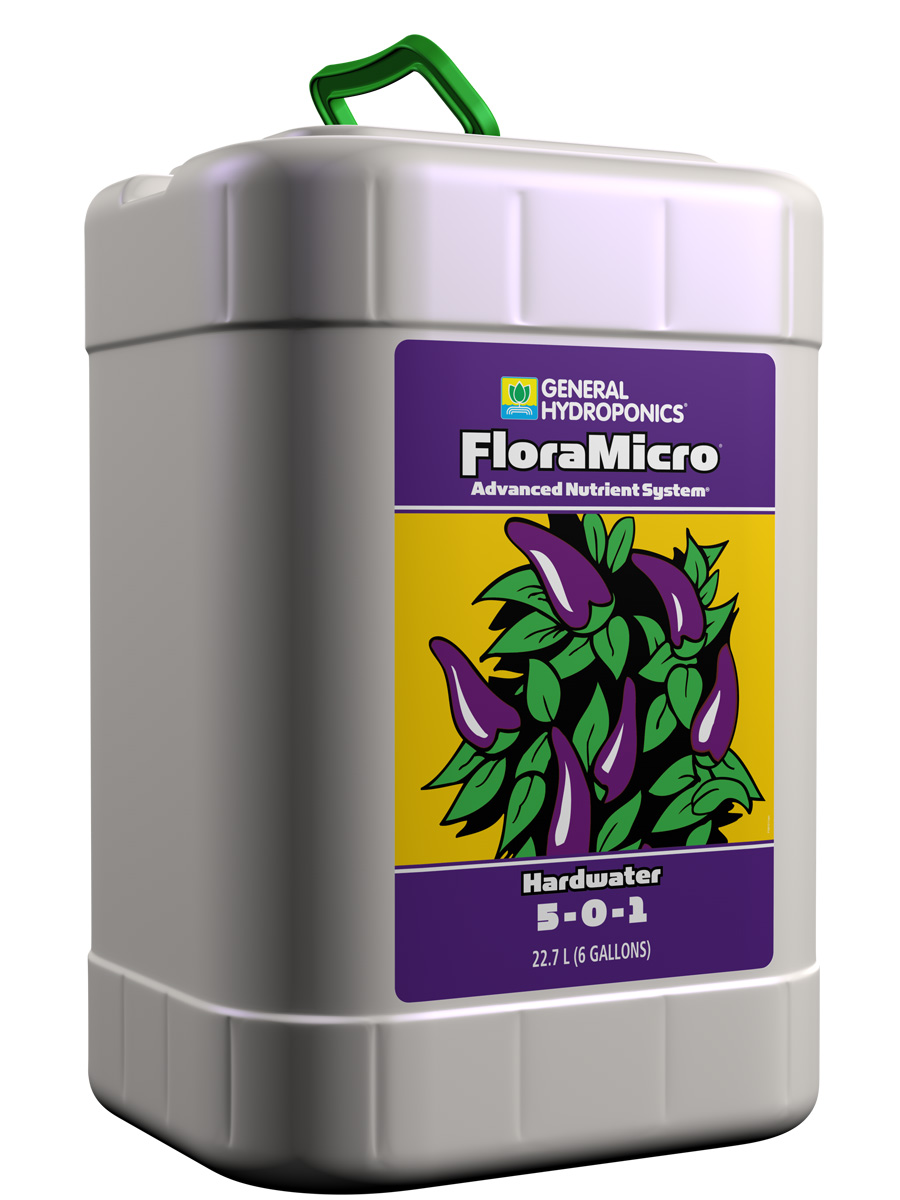 General Hydroponics FloraMicro Hardwater 6 GALLON