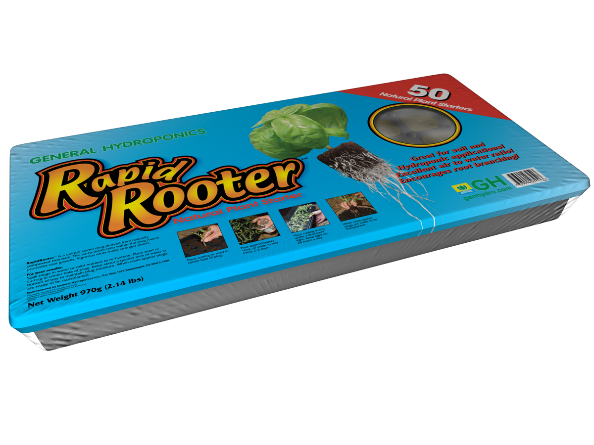 General Hydroponics Rapid Rooter Tray 50-Cell Tray & Plugs