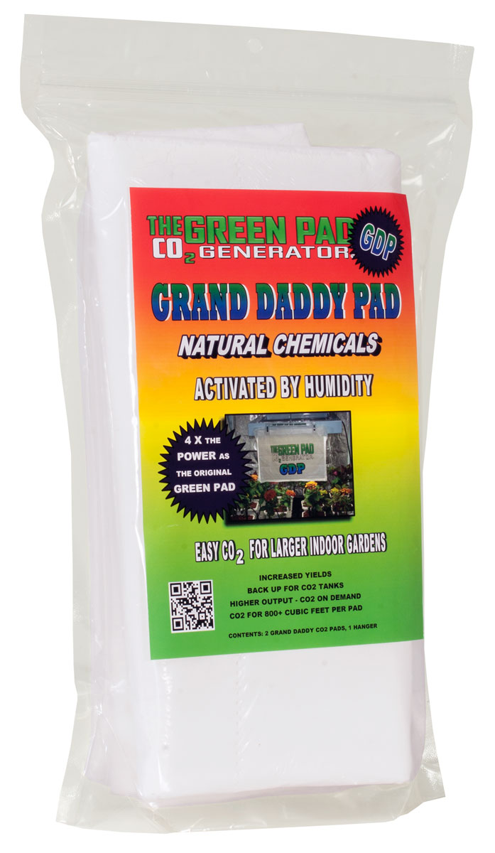 Green Pad Grand Daddy Pad CO2 Generator Pack of 2 pads W/ 1 hanger