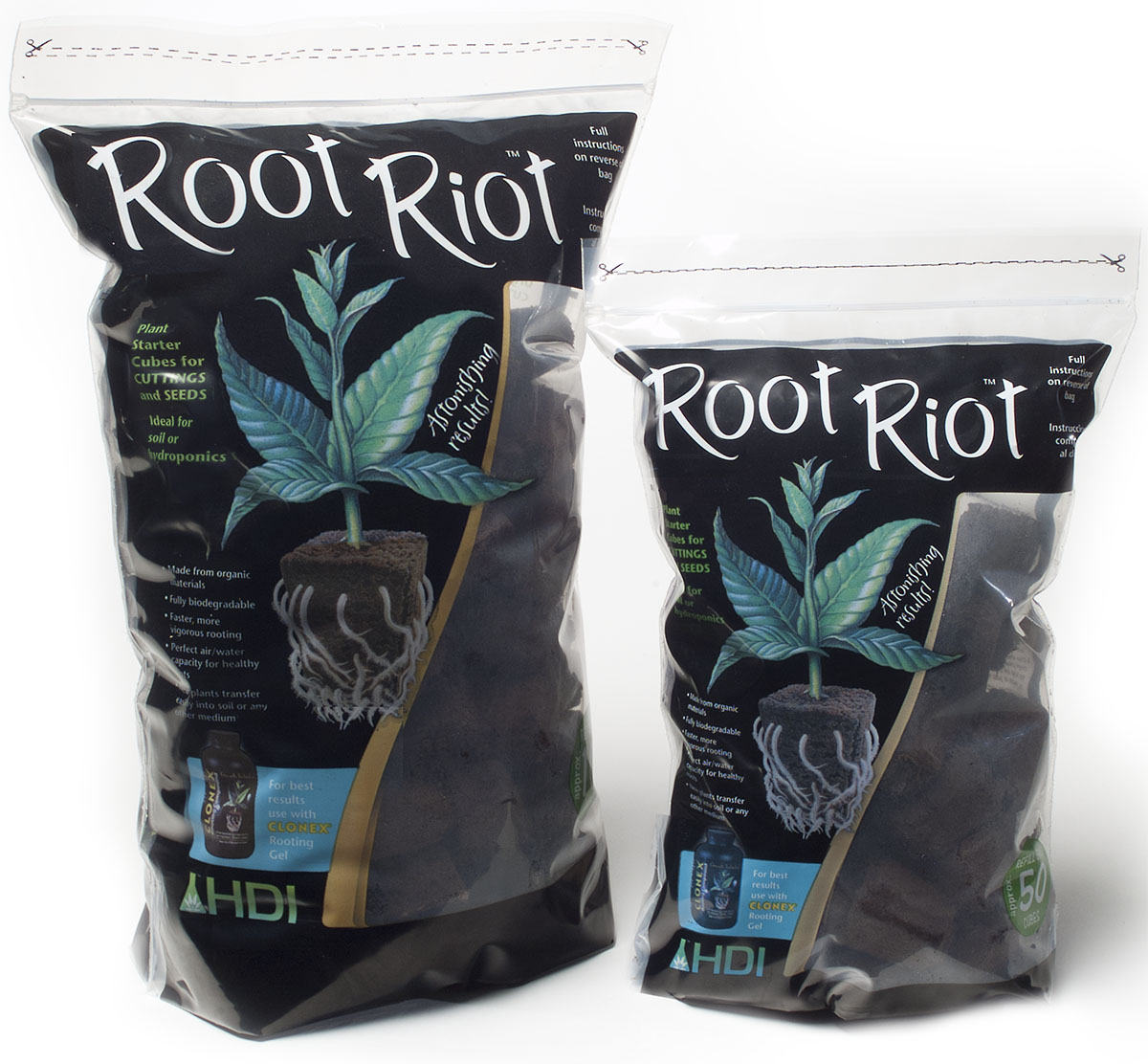 Hydrodynamics Root Riot Cubes bag of 50