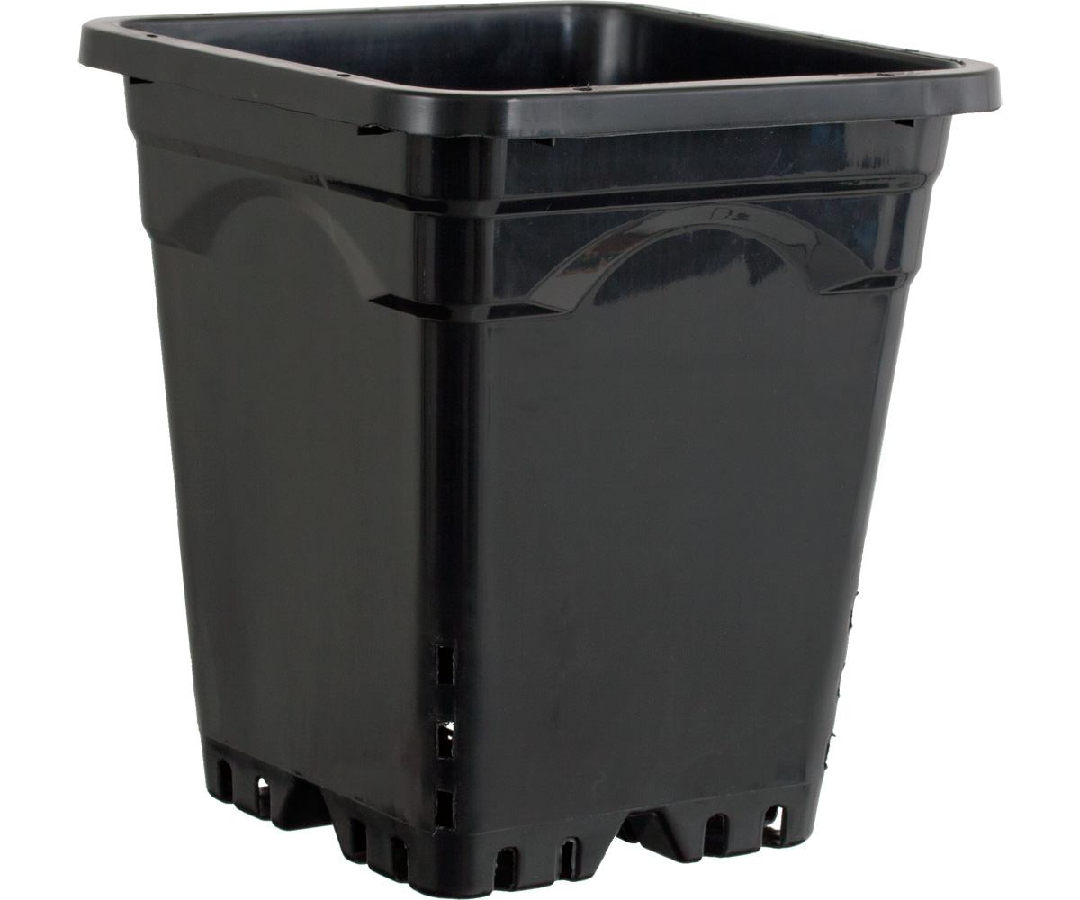 Active Aqua 12 x 12 Square Black Pot - 12 Tall - 24 PER CASE