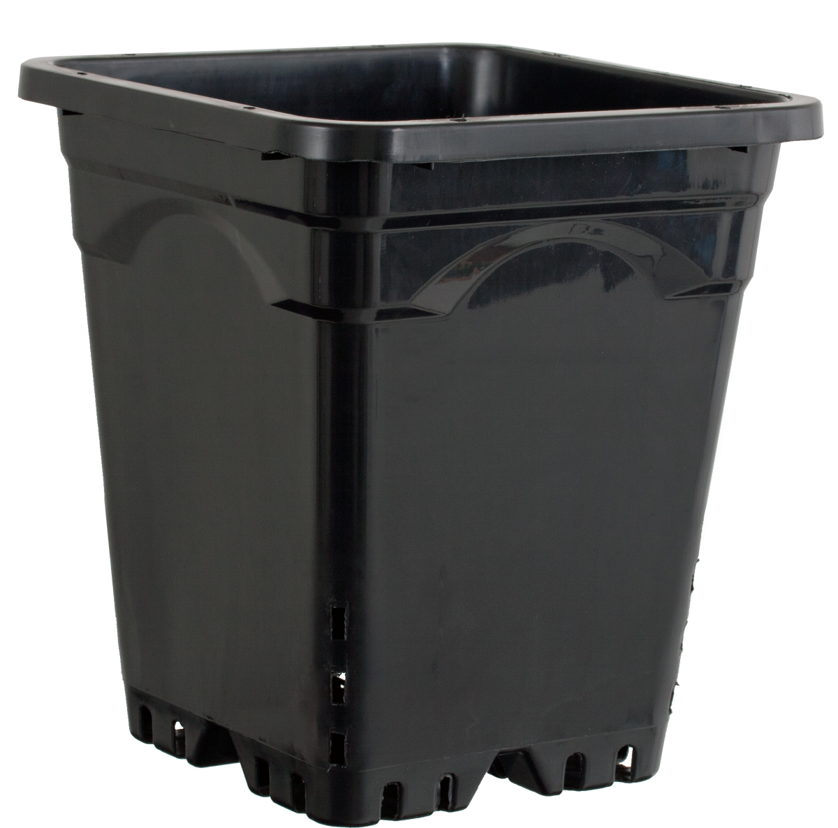 Active Aqua 9 x 9 Square Black Pot - 10 Tall - 24 PER CASE