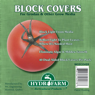 HydroFarm Rockwool Block Cover 6 Inch Pack of 40