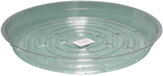 HydroFarm 10 Inch Clear Saucers - Pack of 25
