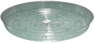 HydroFarm 14 Inch Clear Saucers - Pack of 10