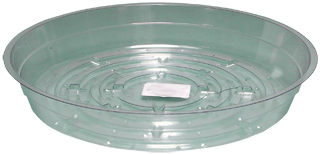 HydroFarm 6 Inch Clear Saucers - Pack of 25