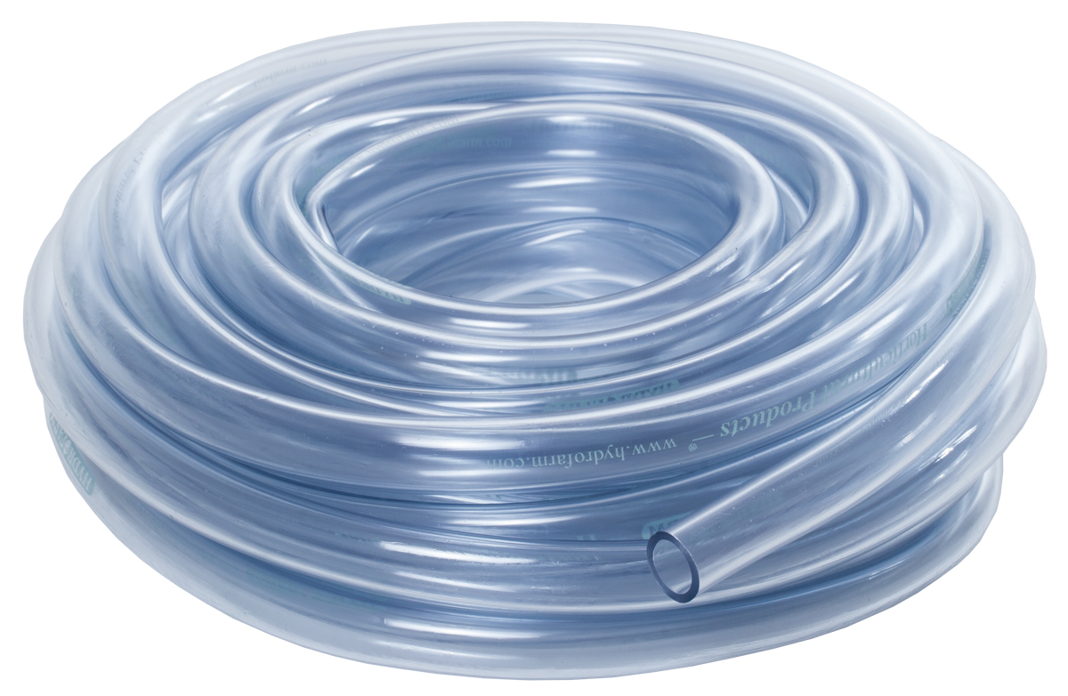 HydroFarm 3/8 Inch Clear Tubing 25 Foot Roll