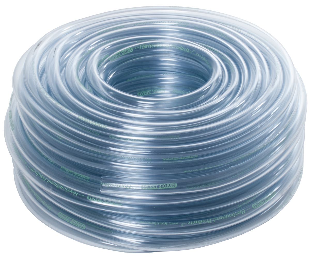 HydroFarm 3/8 Inch Clear Tubing 100 Foot Roll