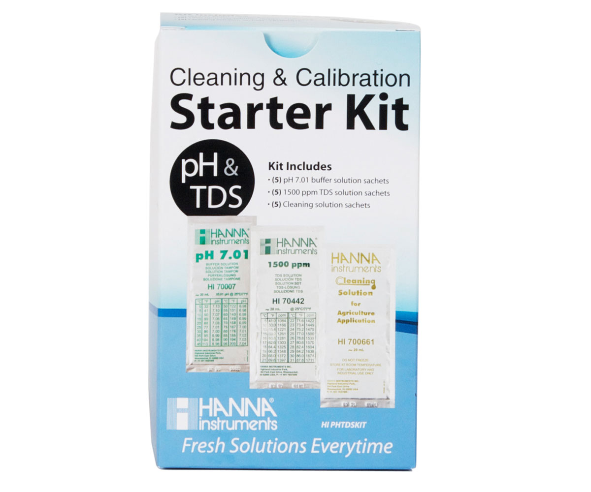 Hanna Instruments Solution Starter Kit (pH/TDS Calibration & Cleaning)
