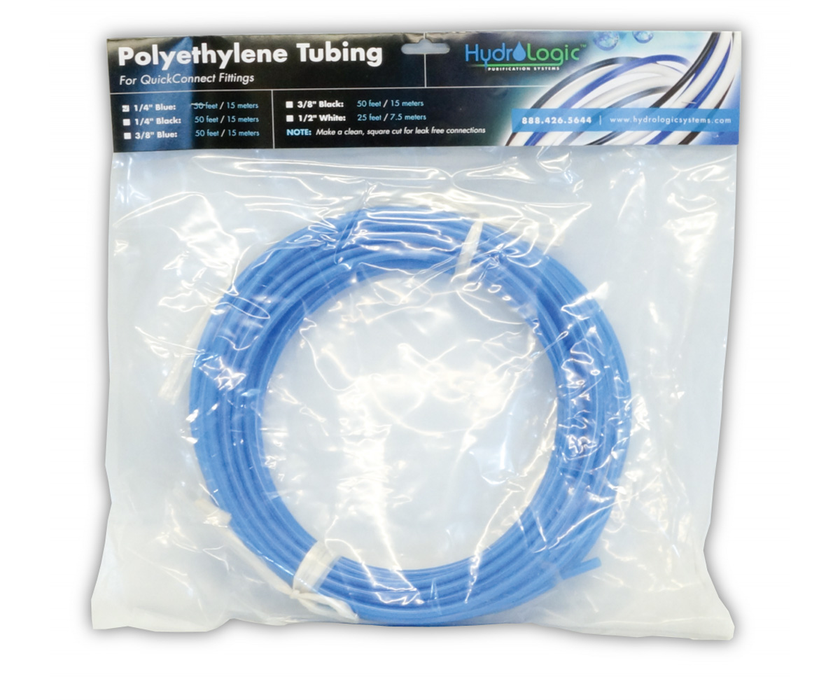 Hydro-Logic Polyethylene Tubing 50 Foot Blue 1/4 Inch