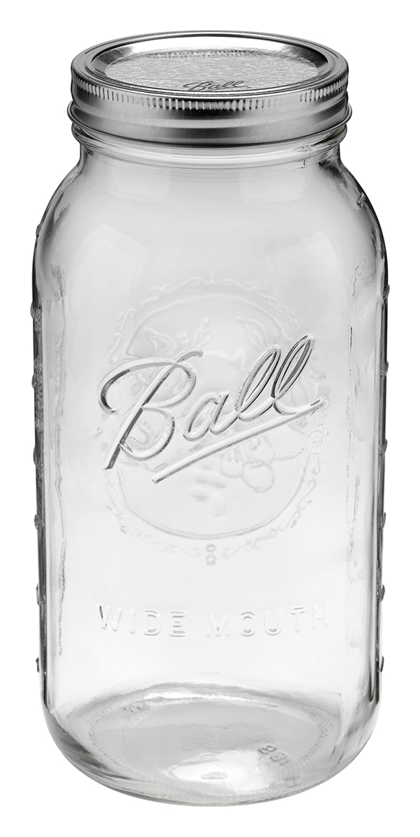 Ball Jar 64oz (Half Gallon) Wide Mouth Case of 6