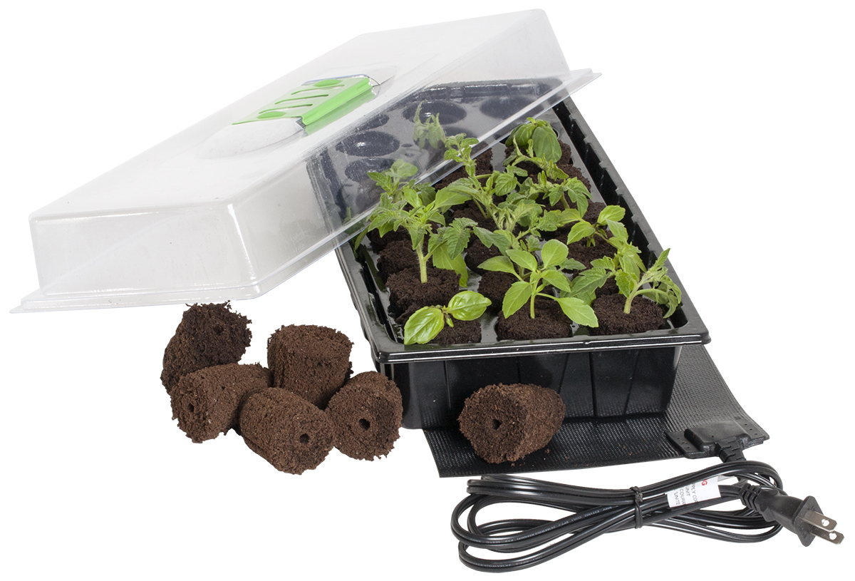 Jump Start 24-Cell Grow Plug Mini Germination Station W/ Heat Mat