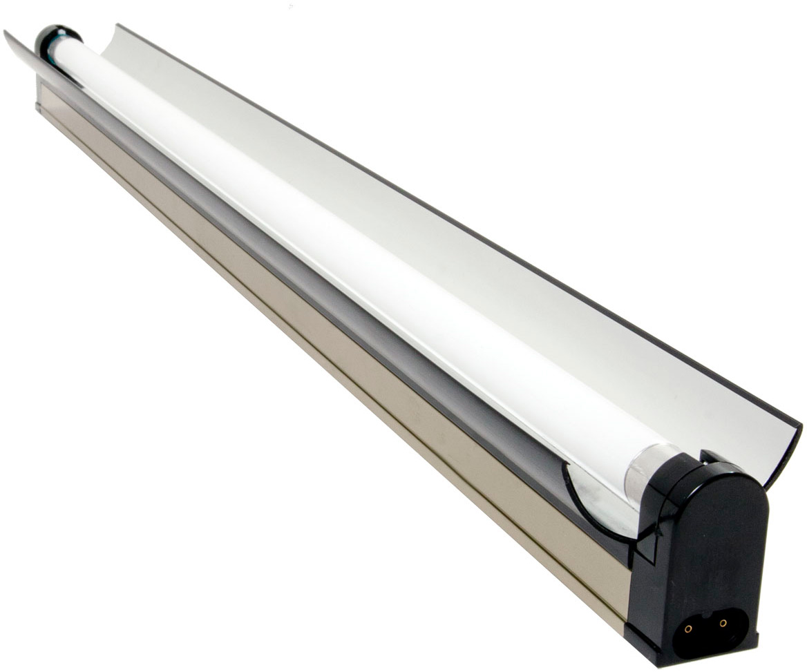 Jump Start T5 54W 4 Foot Strip / Reflector Fixture W/ Lamp - for Modular Systems