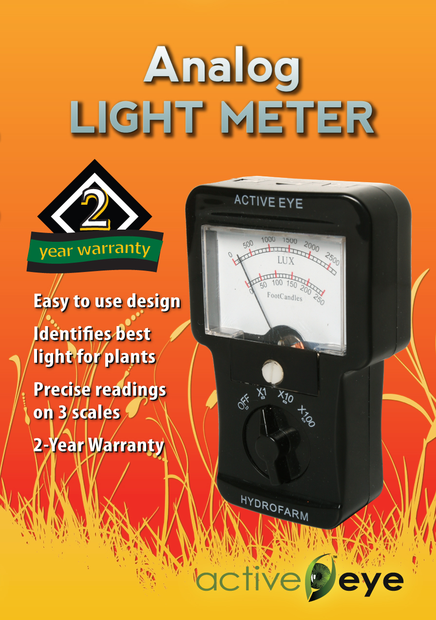 Active Eye Analog Light Meter (Footcandles)