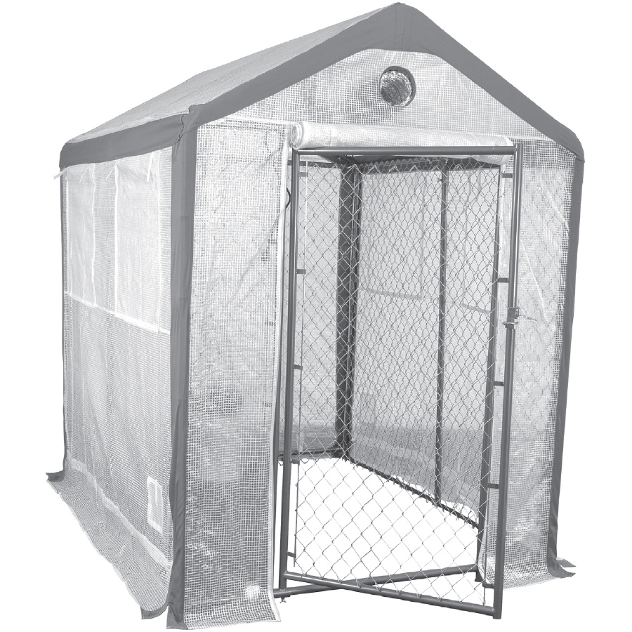 Saturday Solution Secure Grow Chain Link Greenhouse - 8 X 6 Foot