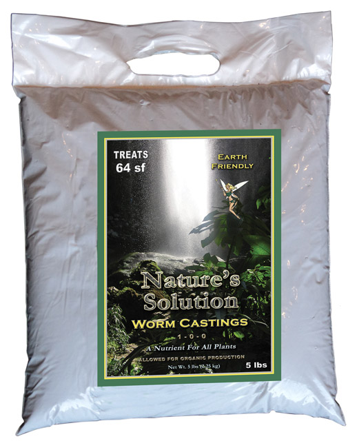 Naturefts Solution Organic Worm Castings  5 LBS