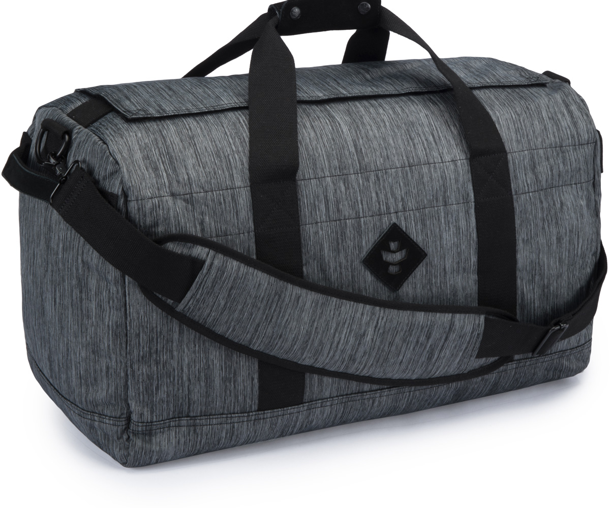 Revelry Supply The Continental Large Duffle Striped Black