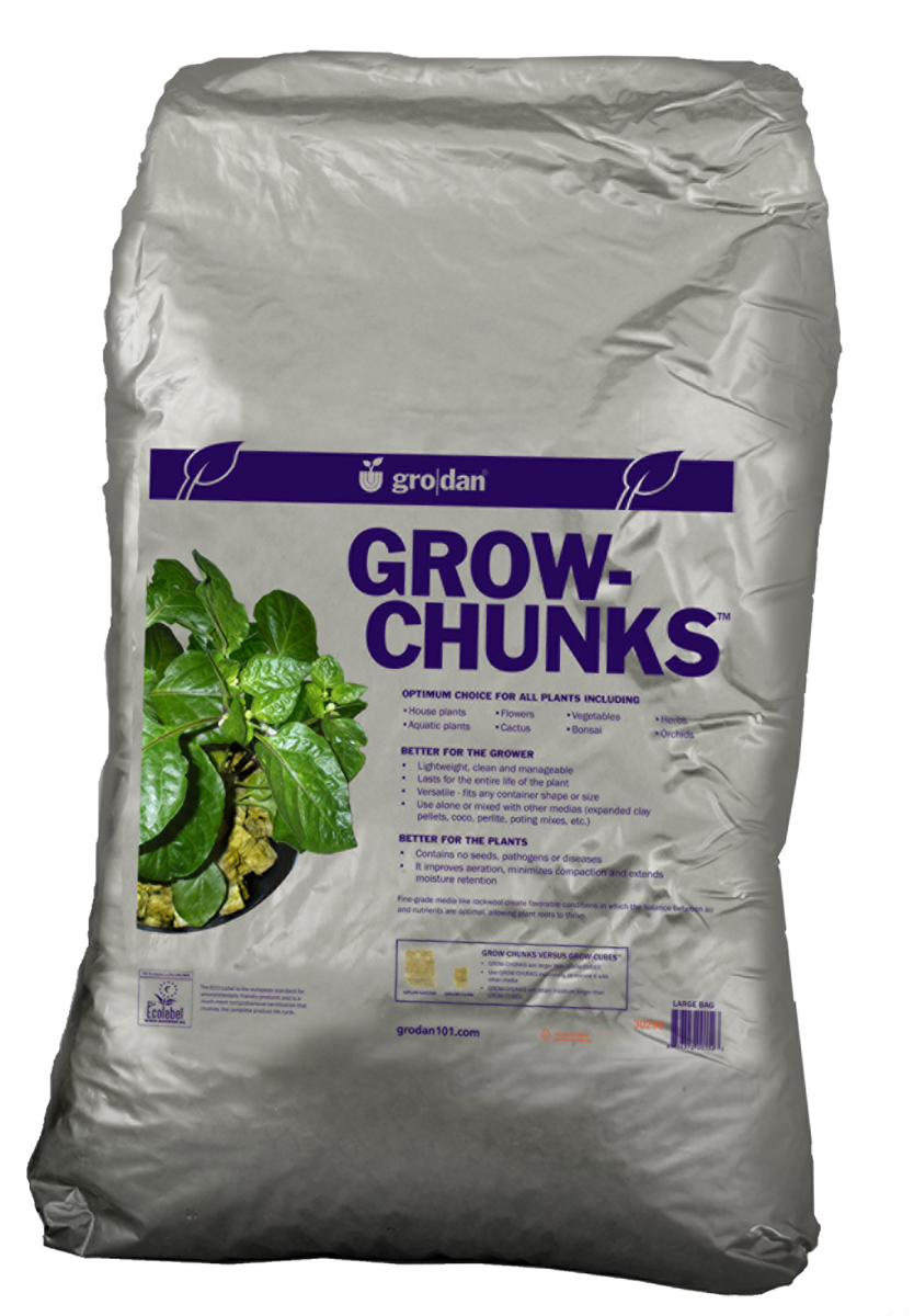 Grodan Grow Chunks 2 CUFT Cubic Foot Bags, Case of 3