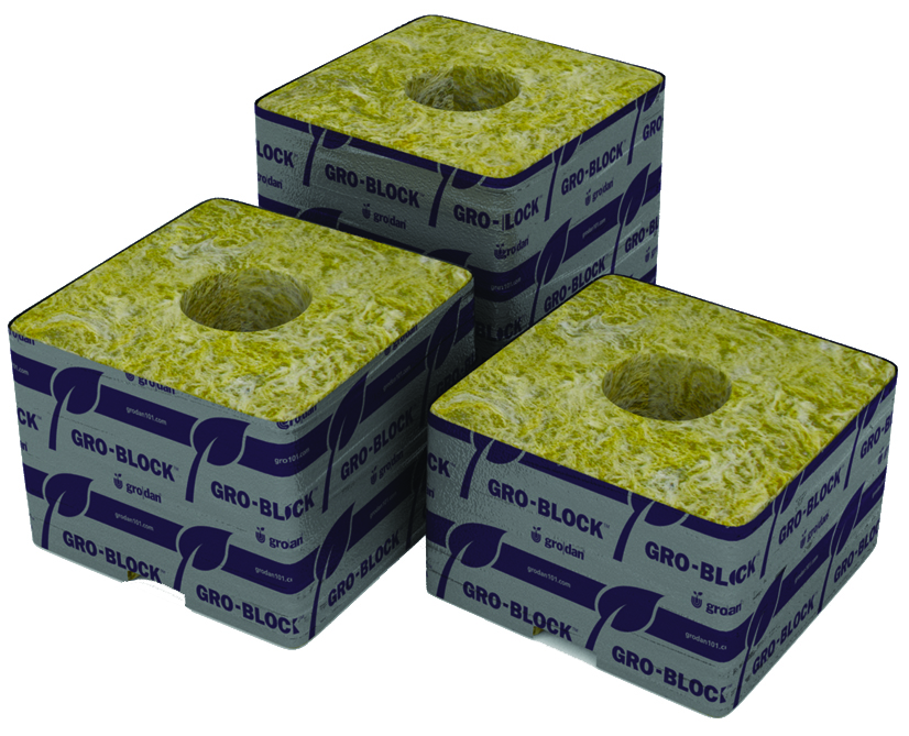 Grodan Delta 6.5 Block - 4 x 4 x 2.5 - Case of 216