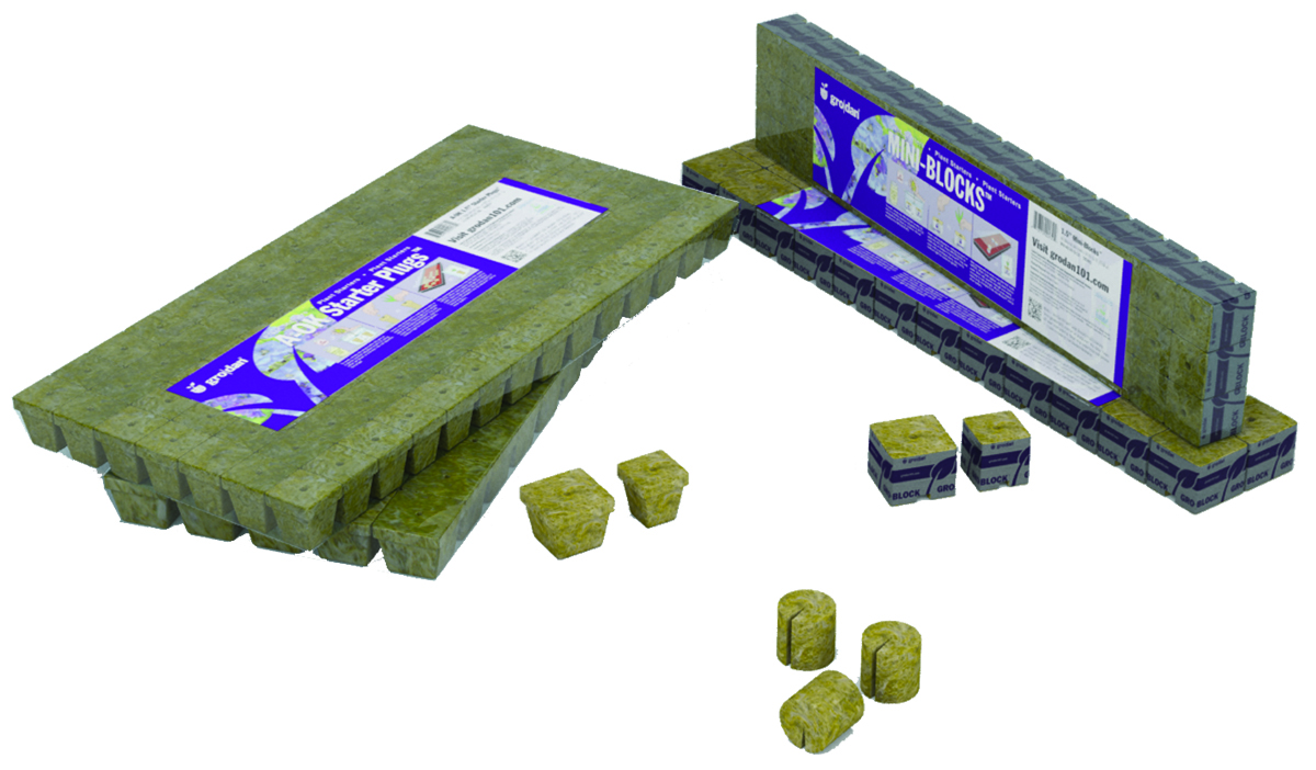 Grodan MM 40/40 6/15 Plugs - 1.5 x 1.5 x 1.5 - 15 - 1 Pack = 45 Cubes