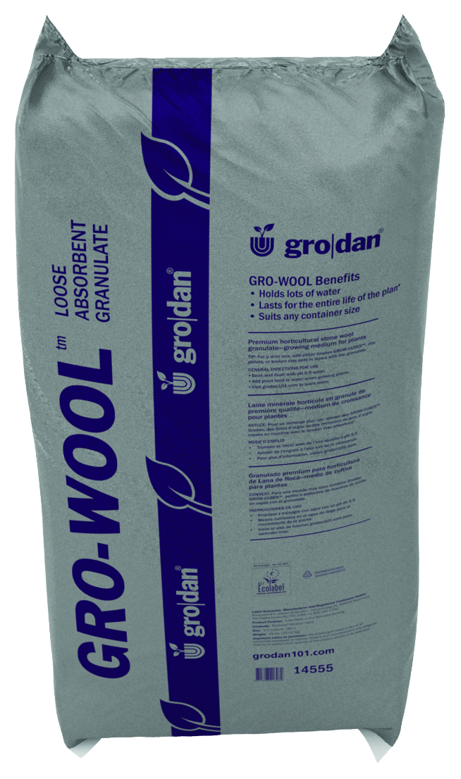 Grodan Gro-Wool Medium Water Absorbent Granulate Rockwool 3.5 Cubic Foot