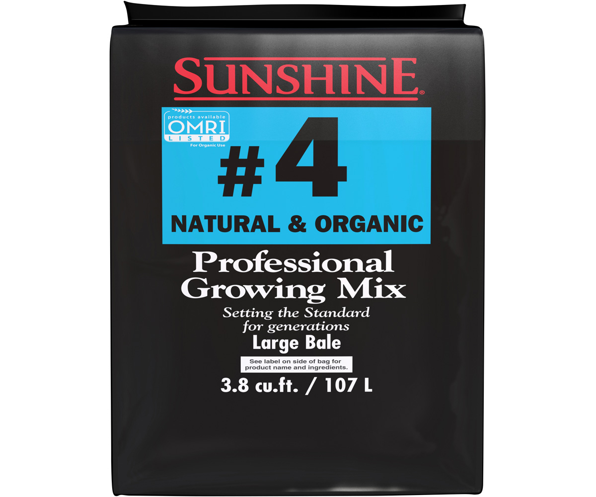 SunGro Horticulture Sunshine Natural & Organic Mix #4 - 3.8 Cubic Foot