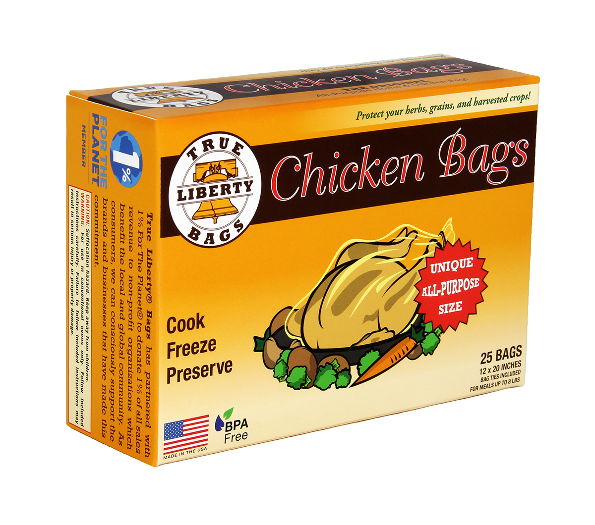 True Liberty Chicken Bags Pack of 25
