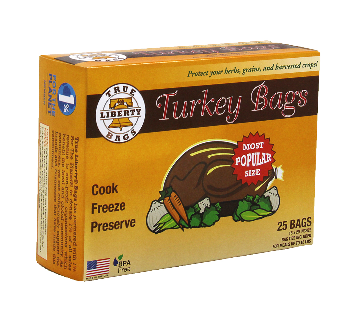 True Liberty Turkey Bags Pack of 25