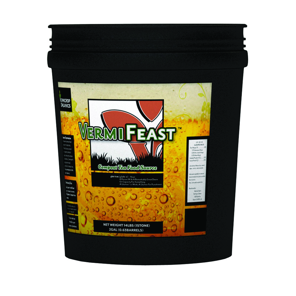 Vermicrop VermiFeast Compost Tea Food Source  2 Gallon