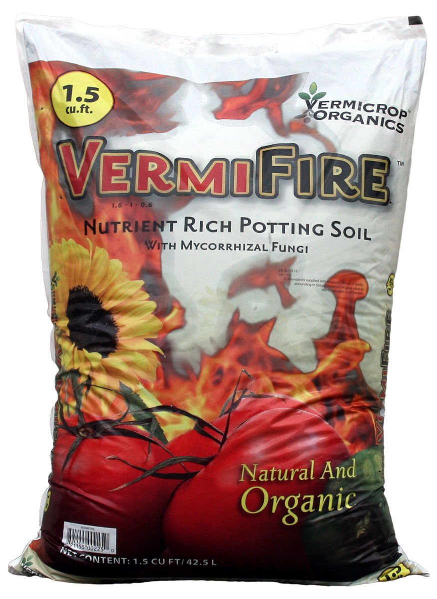 Vermicrop VermiFire Nutrient Rich Potting Soil 1.5 Cubic Foot