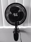 BAY HYDRO 6 Inch Black Clip Fan 2 Speeds Quiet 120V 15W