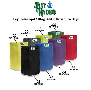 Bay Hydro 5 Gallon 8 Bag Kit, Bubble ICE Extraction Bags