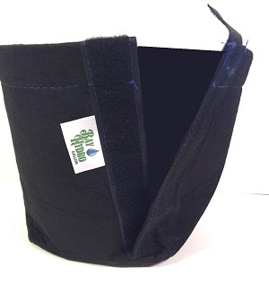 Bay Hydro 1 Gallon Velcro Trans-Planter Fabric Pots